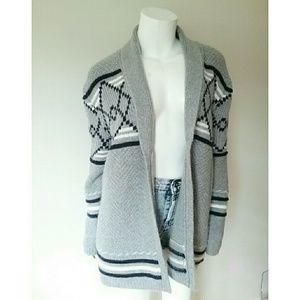 Merona Gray Oversized Open Long Cardigan Sweater